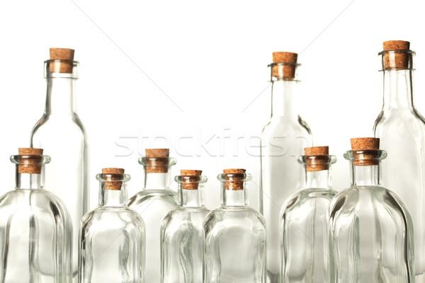 Vazio garrafas fundo medicina ciência lab Foto stock © SSilver