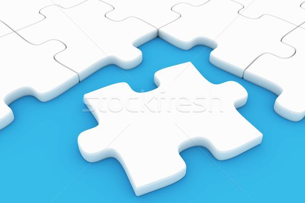 Bilmece parça arka plan oyuncak beyaz grafik Stok fotoğraf © SSilver