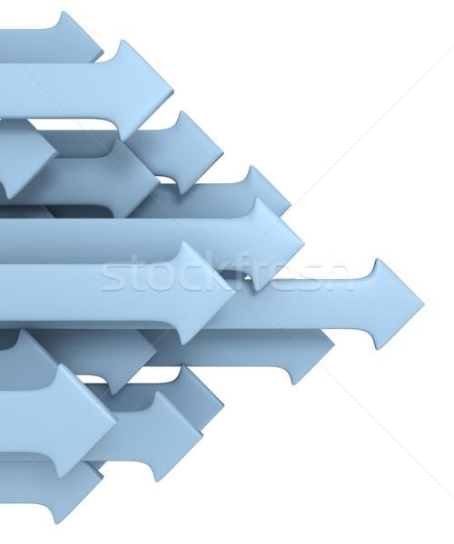 Grup oklar iş soyut mavi hedef Stok fotoğraf © SSilver