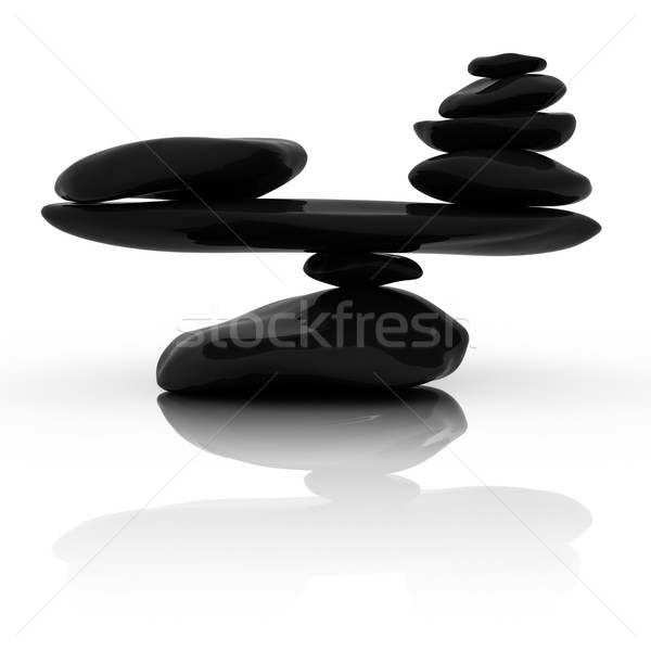 Pedras estância termal paz branco torre Foto stock © SSilver