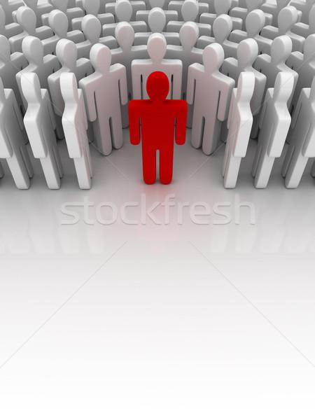 立って 外に 群衆 ビジネス 男 グループ ストックフォト © SSilver