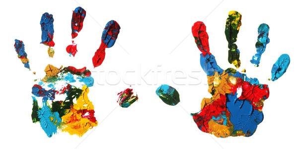 Mão mãos abstrato criança fundo palma Foto stock © SSilver