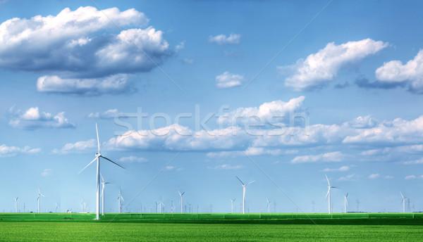 Manzara tok gökyüzü Metal alan Stok fotoğraf © SSilver