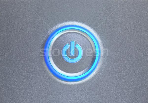 Güç düğme ışık dizayn dizüstü bilgisayar Stok fotoğraf © SSilver