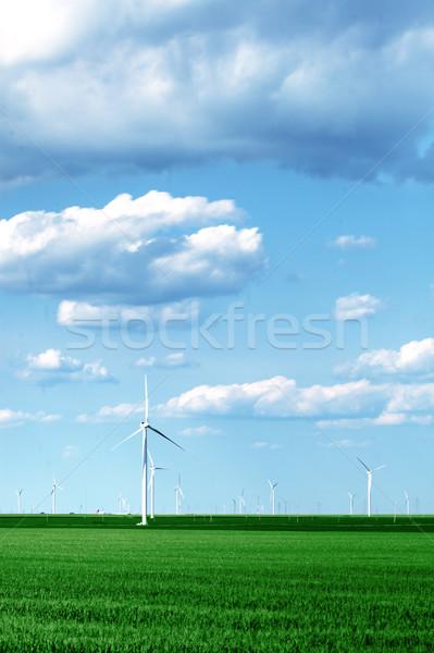 пейзаж полный небе металл области Сток-фото © SSilver