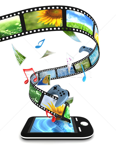 Fotos vídeo música jogos telefone Foto stock © SSilver