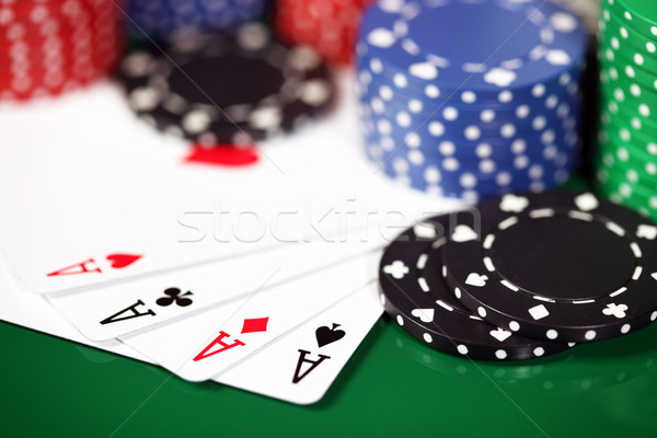 Four aces Stock photo © SSilver