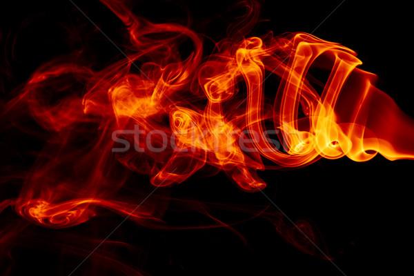 火災 抽象的な オレンジ スペース 赤 黒 ストックフォト © SSilver