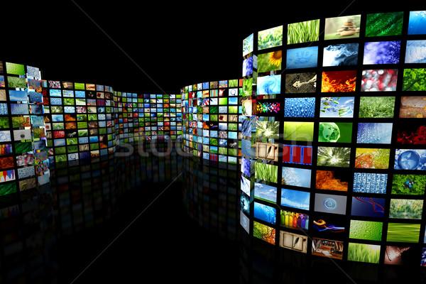 Raccolta immagini internet televisione film design Foto d'archivio © SSilver