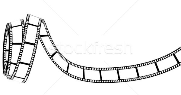 Bande de film résumé film design espace écran Photo stock © SSilver