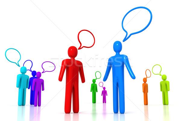 Stock fotó: Emberek · beszélnek · üzlet · buli · háttér · hangszóró · csapat