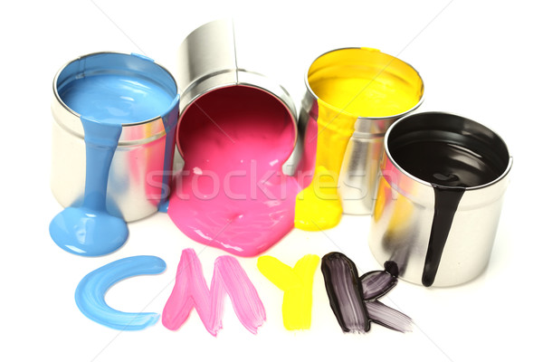 CMYK cans of paint Stock photo © SSilver