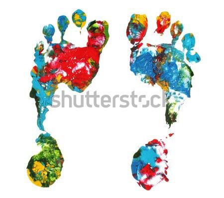 Mão imprimir abstrato pintar espaço Foto stock © SSilver