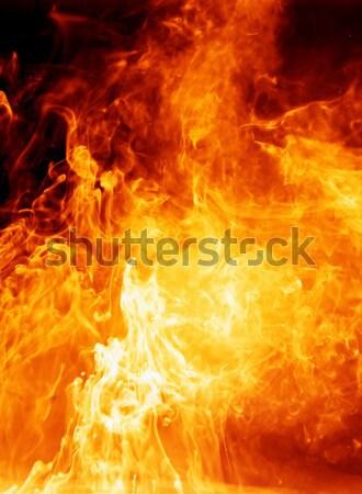 Ardiente explosión fondo rojo caliente diablo Foto stock © SSilver