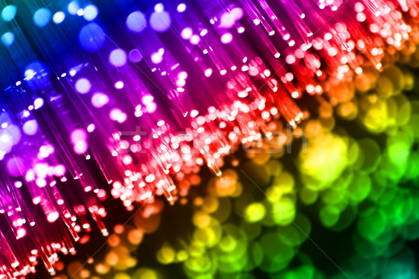 Renkli ışıklar soyut ışık turuncu mavi Stok fotoğraf © SSilver