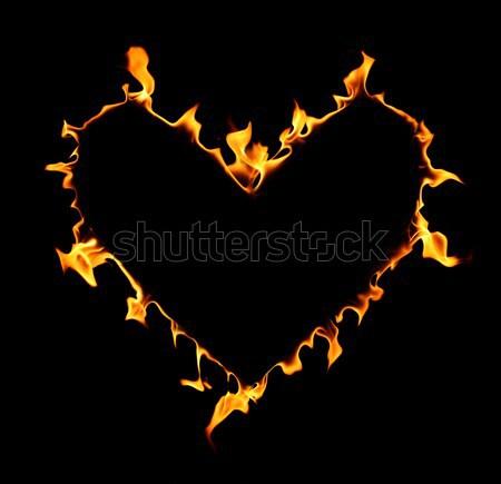Fogo coração amor natureza vermelho energia Foto stock © SSilver