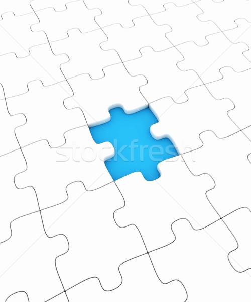 головоломки отсутствующий кусок фон игрушку белый Сток-фото © SSilver