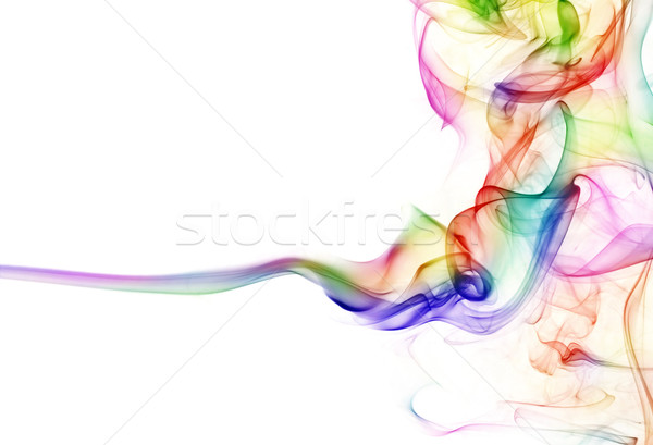Colorido fumar fundo verde azul branco Foto stock © SSilver