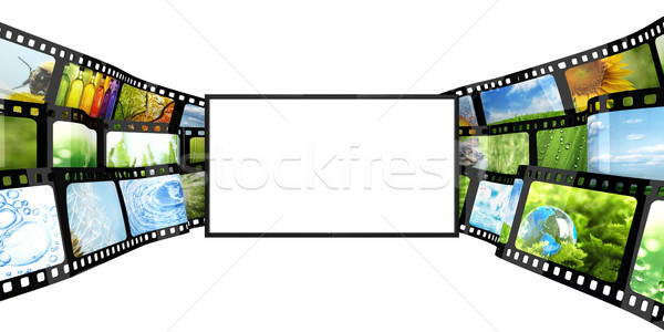 Filmstrip tv film design video cinema Foto d'archivio © SSilver