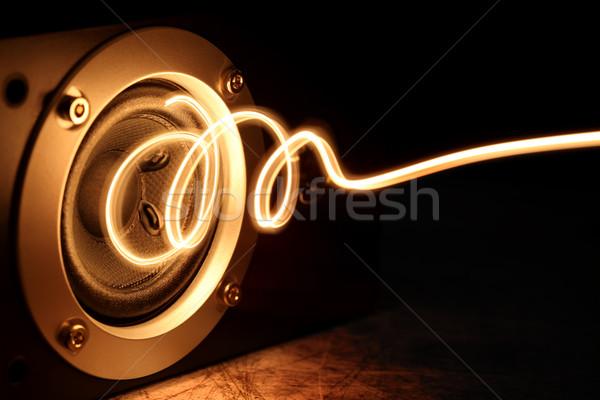 スピーカー 抽象的な 光 デザイン 岩 楽しい ストックフォト © SSilver