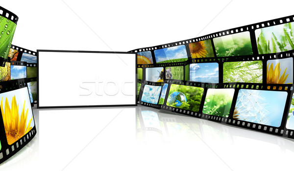 Filmstrip tv dizayn teknoloji sanat film Stok fotoğraf © SSilver