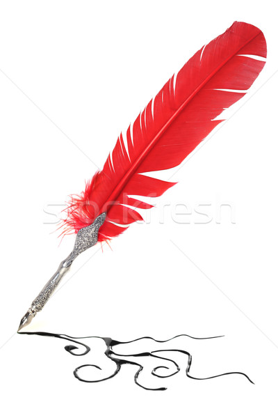 Red and silver quill Stock photo © SSilver