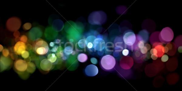 Abstract lichten achtergrond oranje nacht leuk Stockfoto © SSilver