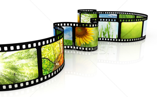 Filmstrip with images Stock photo © SSilver