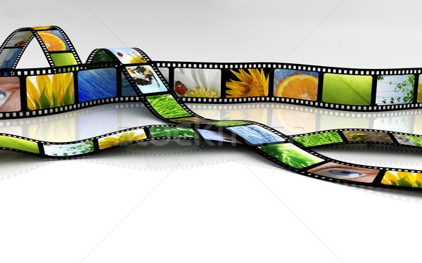 Film ontwerp frame zwarte retro witte Stockfoto © SSilver