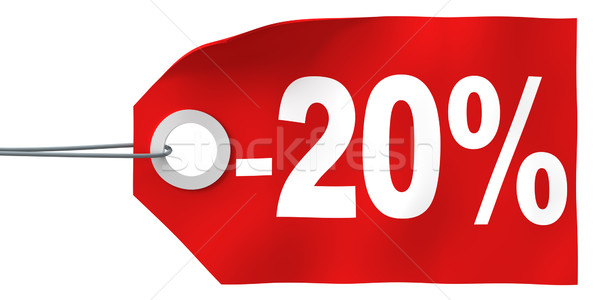 20% off tag Stock photo © SSilver