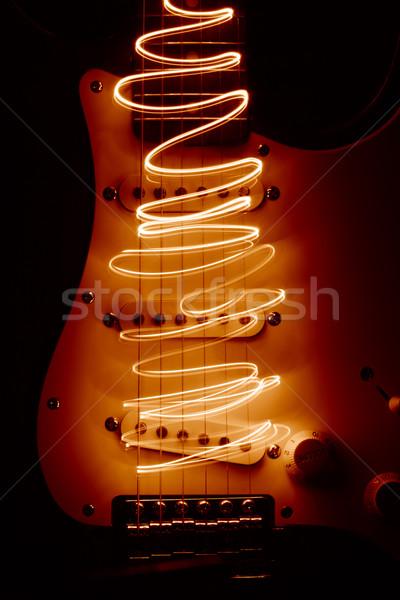 エレキギター 金属 赤 ステージ エネルギー レトロな ストックフォト © SSilver