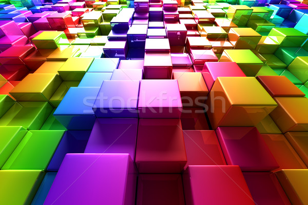 Colorful cubes Stock photo © SSilver