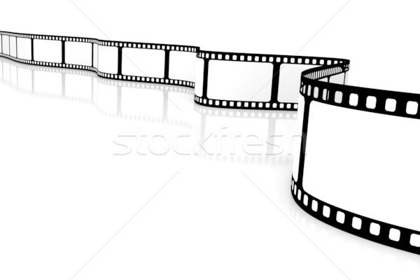 Filme projeto espaço preto retro branco Foto stock © SSilver