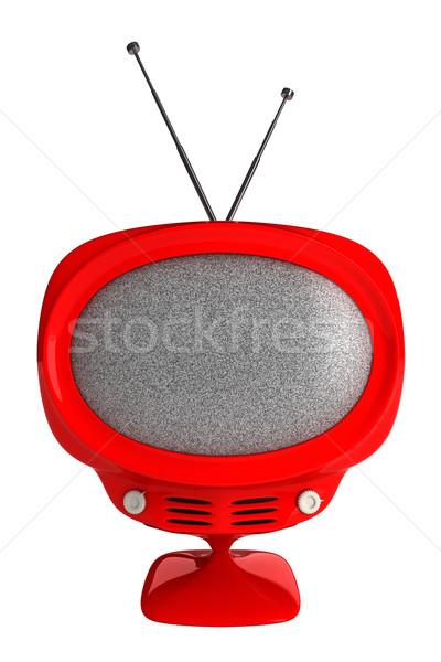 Retro tv televizyon teknoloji kutu film Stok fotoğraf © SSilver