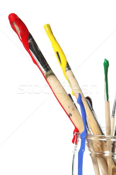 Vernice coperto scuola lavoro sfondo arte Foto d'archivio © SSilver
