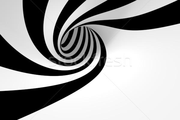 Soyut spiral dizayn çerçeve siyah Stok fotoğraf © SSilver