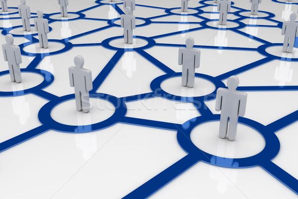 Rede internet multidão fundo grupo comunicação Foto stock © SSilver