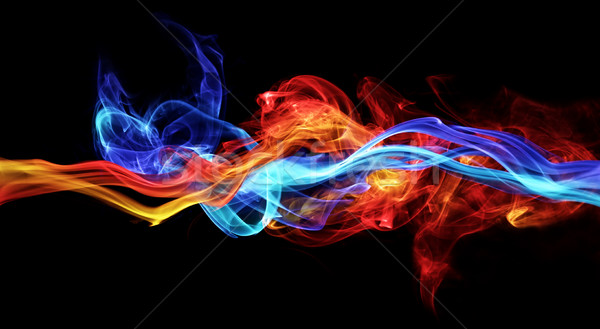 Red and blue smoke Stock photo © SSilver