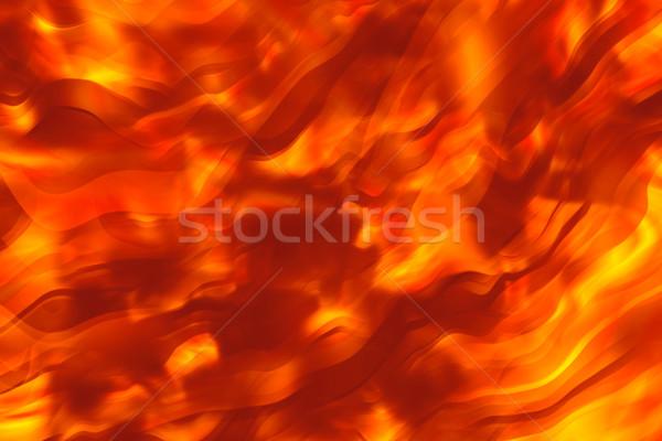 Ardiente caliente textura fondo humo ola Foto stock © SSilver