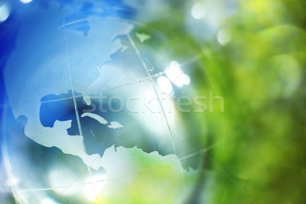Mavi yeşil toprak gökyüzü dünya soyut Stok fotoğraf © SSilver