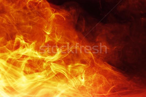 Ardiente fuego naranja rojo energía wallpaper Foto stock © SSilver