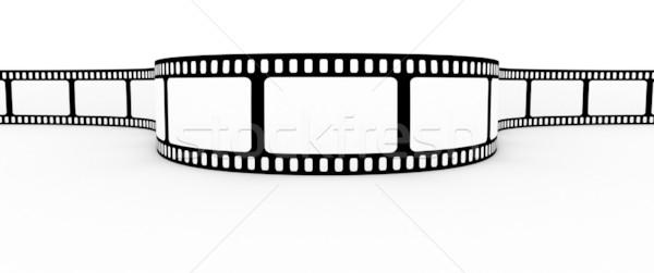 Film şeridi film dizayn ekran siyah beyaz Stok fotoğraf © SSilver