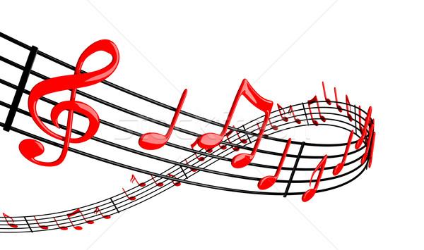 音楽 デザイン バー 黒 波 美しい ストックフォト © SSilver