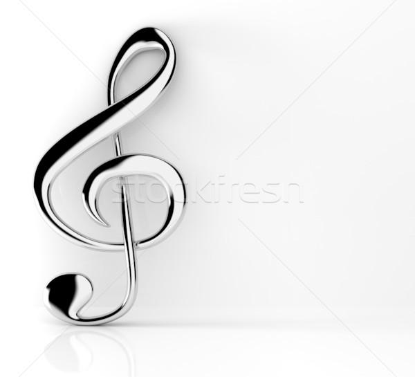 Violinkulcs absztrakt háttér felirat kulcs fekete Stock fotó © SSilver