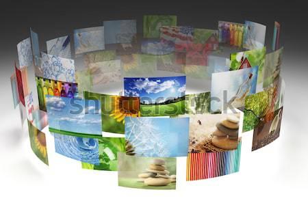Raccolta foto cielo design estate blu Foto d'archivio © SSilver