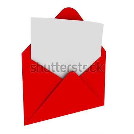 Envelope carta negócio e-mail branco documento Foto stock © SSilver