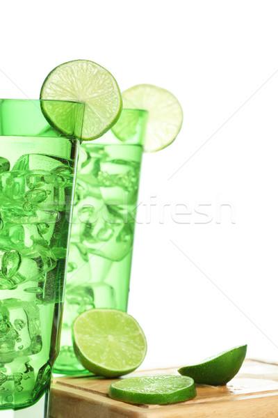 Içecekler gıda yaz yeşil enerji tropikal Stok fotoğraf © SSilver