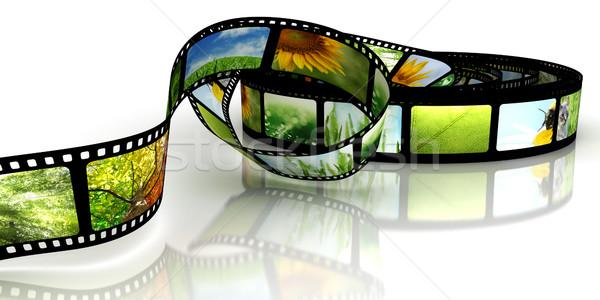 Film frame ruimte zwarte foto Stockfoto © SSilver