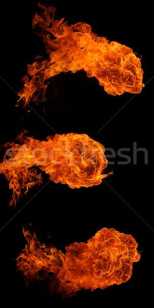 Bolas de fogo luz fundo vermelho energia poder Foto stock © SSilver