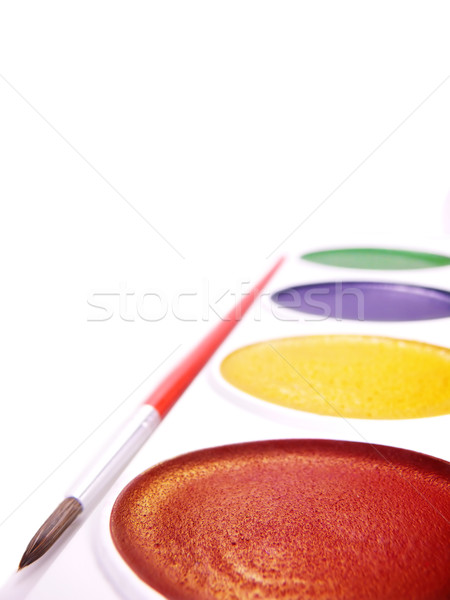childs watercolor paints Stock photo © SSilver